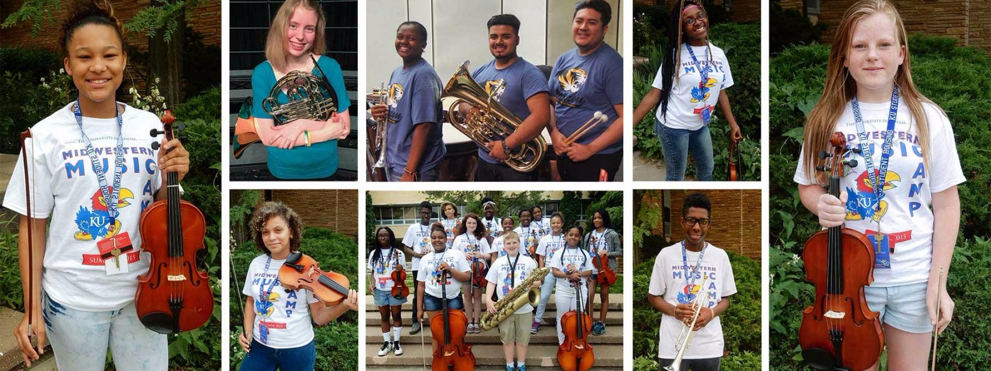 2015 Band of Angels Summer Band Camp Scholarship Recipients