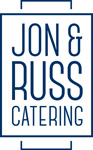 Jon and Russ Catering logo blue